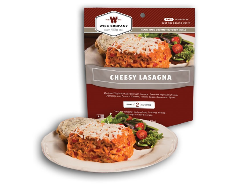 Wise Food Outdoor Cheesy Lasagna Freeze Dried Food 6 oz