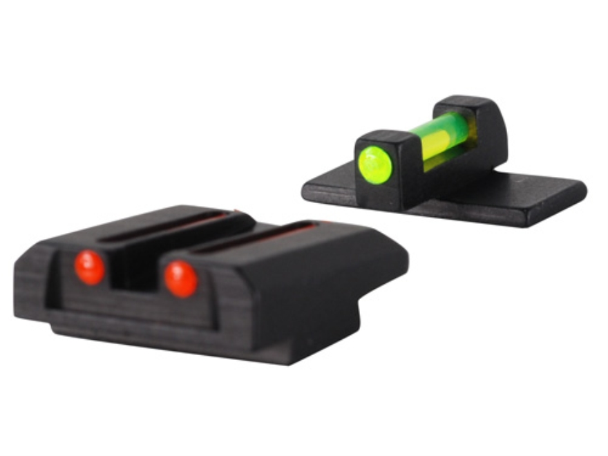 Williams Fire Sight Set Kahr All Models Except CM, CW Series Aluminum Black Fiber Optic Green Front, Red Rear