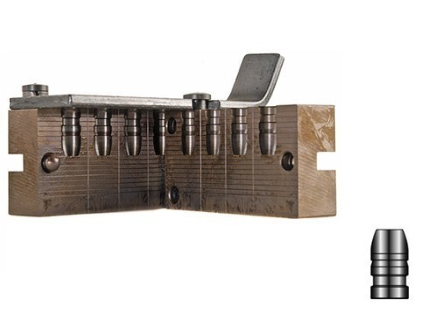 Lyman 4-Cavity Bullet Mold #358665 38 Special, 357 Magnum (358 Diameter) 158 Grain Flat Nose