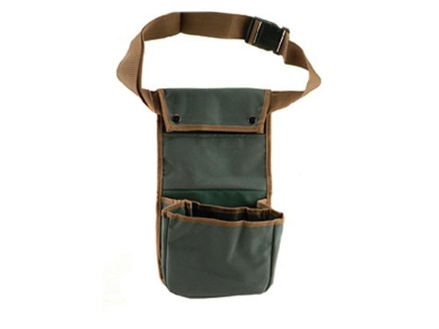 Bulldog Deluxe Divided Shotgun Shell Pouch with Adjustable Belt Nylon Green