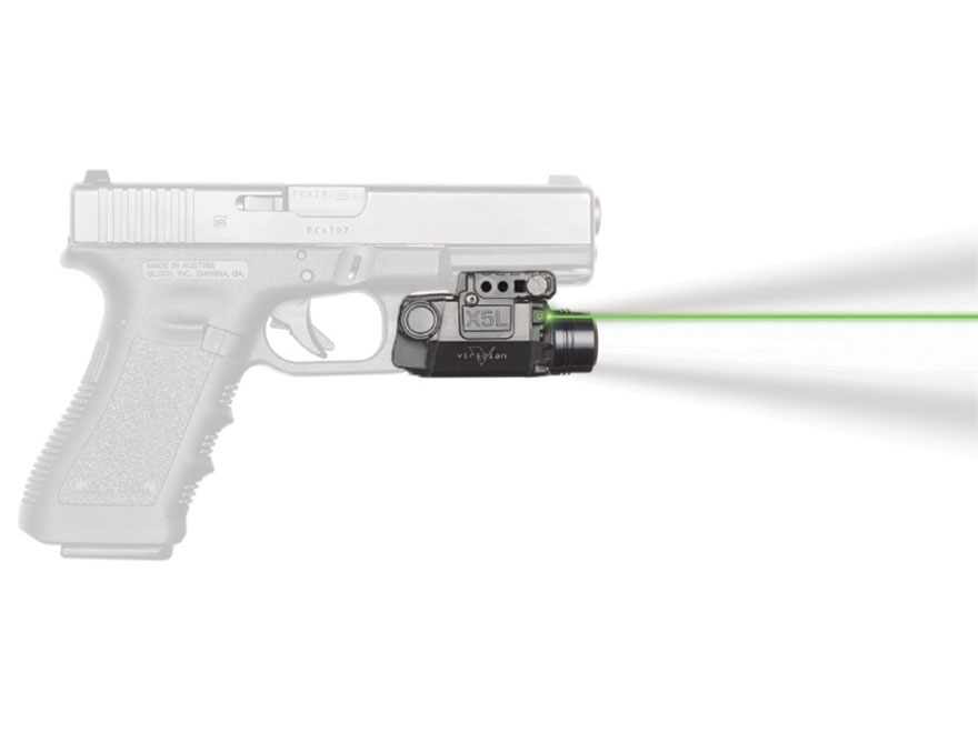 Viridian X5L Gen 2 Series 5mW Gen 2 Green Laser Sight 154 Lumen Tactical Flashlight with Universal Rail Mount Black