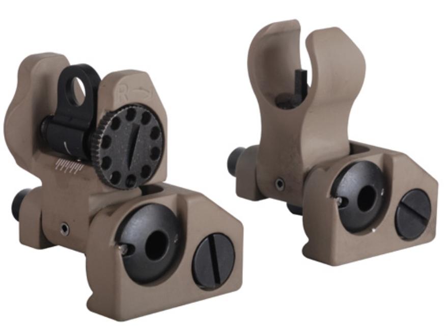 Troy Industries Micro Flip-Up Battle Sight Set HK-Style Front & Standard Rear AR-15