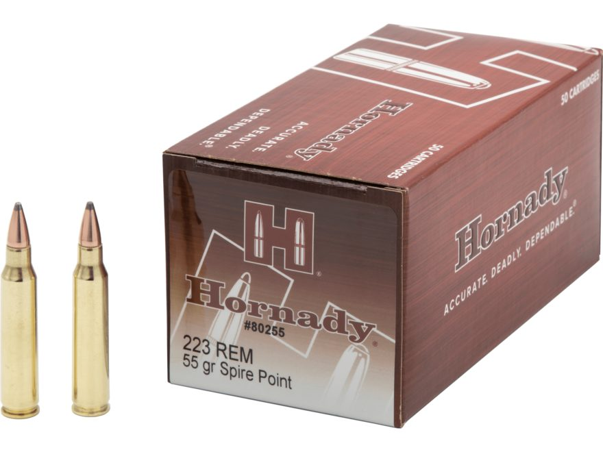Hornady Training Ammunition 223 Remington 55 Grain Soft Point Box of 50