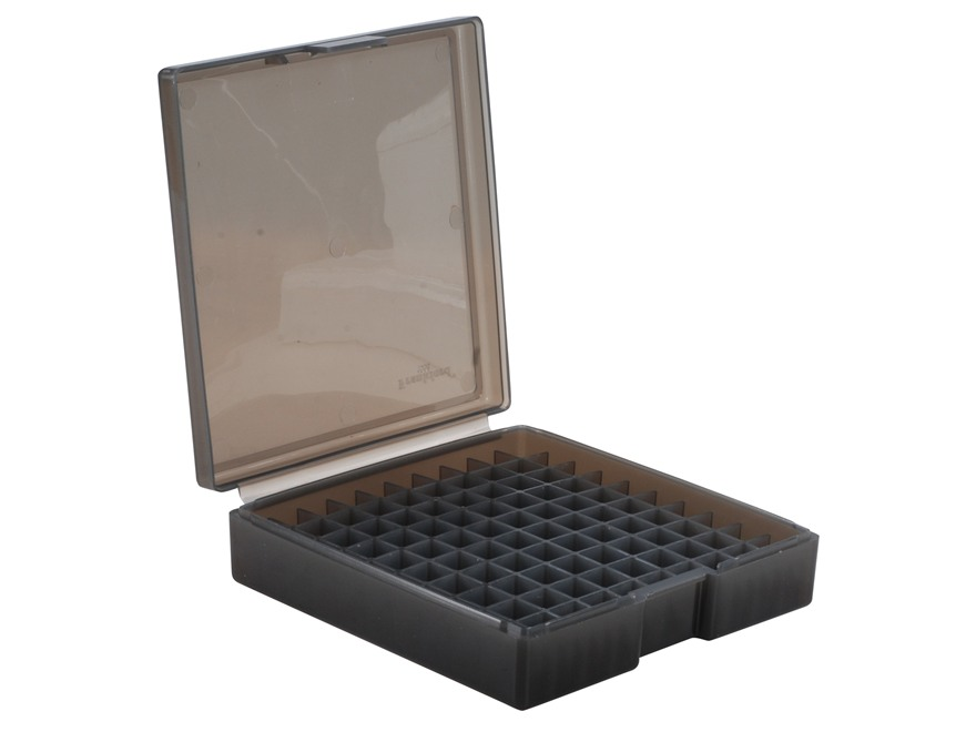Frankford Arsenal Flip-Top Ammo Box #1008 40 S&W, 10mm Auto, 45 ACP 100-Round Plastic Smoke Box of 10
