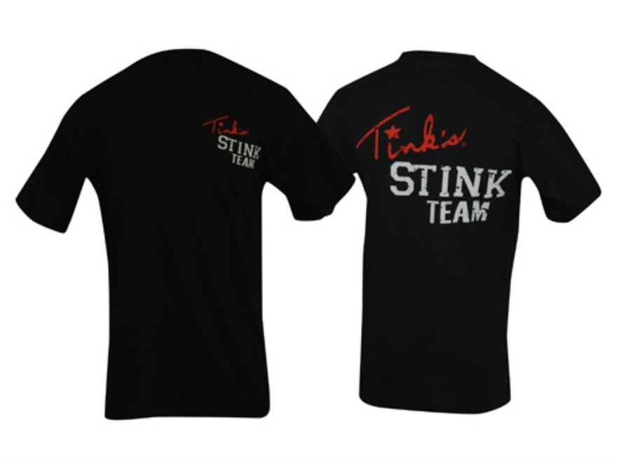 Tink's Men's Stink Team T-Shirt Short Sleeve Cotton Black XL 44-46