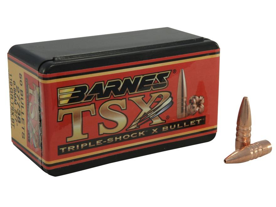 Barnes Triple-Shock X Bullets 6.8mm Remington SPC (277 Diameter) 110 Grain Hollow Point Boat Tail Lead-Free Box of 50