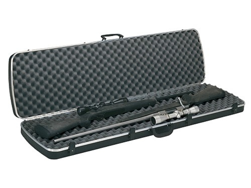 "Plano Gun Guard DLX Double Scoped Rifle Gun Case 51-3/4"" Polymer Black"