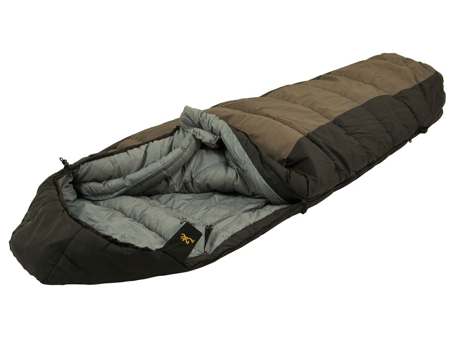 "Browning Yellowstone 20 Degree Tall Sleeping Bag 36"" x 86"" Nylon Clay and Black"