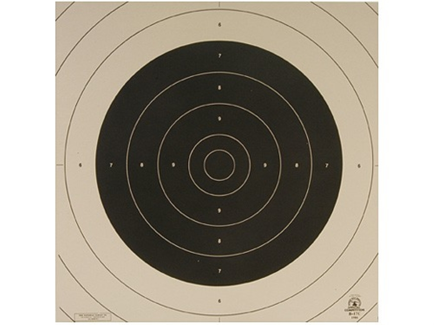 NRA Official International Pistol Targets Repair Center B-17C 25/50 Meter Slow Fire Paper Package of 100