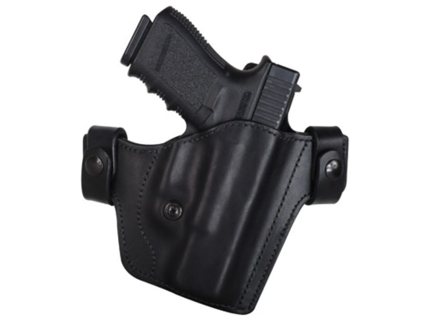 Blade-Tech Hybrid Convertible IWB/OWB Holster Right Hand 1911 Government Leather and Kydex Black