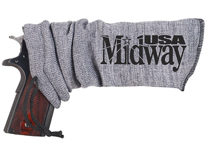 MidwayUSA Gun Sock Pistol Silicone-Treated Gray 13-1/2""