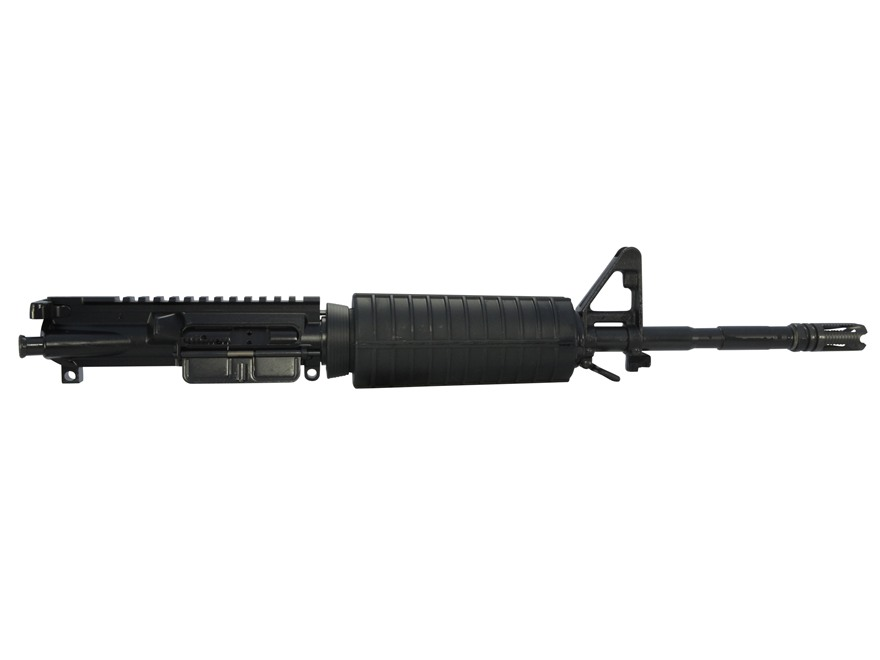 "CMMG AR-15 M4 Flat-Top Upper Assembly 5.56x45mm NATO 1 in 7"" Twist 14.5"" Barrel Carbine Gas System Chrome Moly Matte with M4 Handguard, A2 Front sight, Permanent Flash Hider"