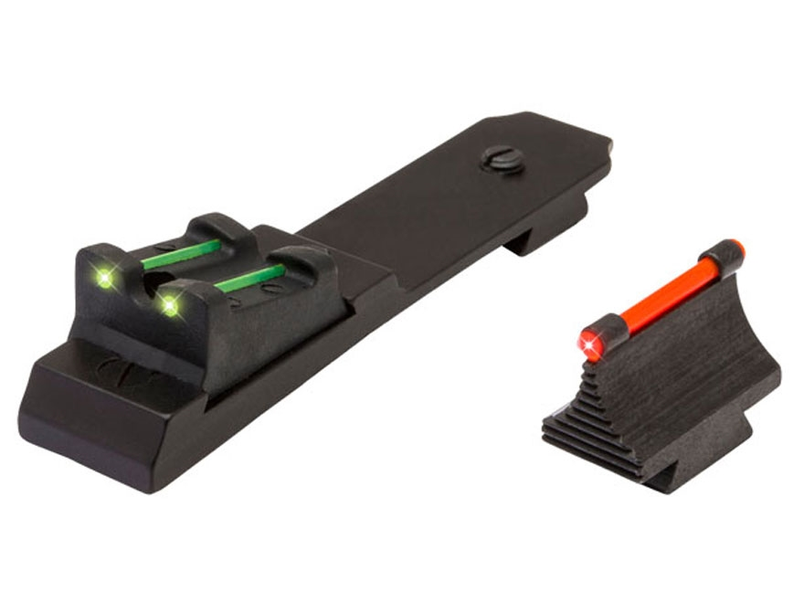 TRUGLO Sight Set Ruger 10/22 Steel Blue Fiber Optic Green