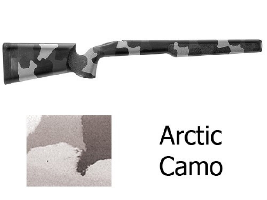 McMillan A-2 Rifle Stock Remington 700 ADL Short Action Varmint Barrel Channel Fiberglass Molded-In Arctic Camo Semi-Inletted