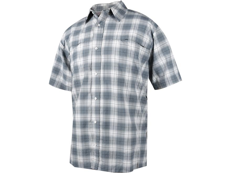 Tru spec men 39 s 24 7 plaid camp shirt short sleeve nylon for Mens short sleeve camp shirts