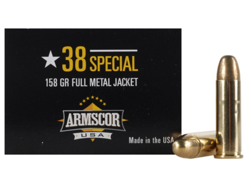 Armscor Ammunition 38 Special 158 Grain Full Metal Jacket Box of 50