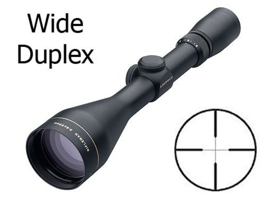 Leupold Rifleman Rifle Scope 3-9x 50mm Wide Duplex Reticle Matte Factory Second