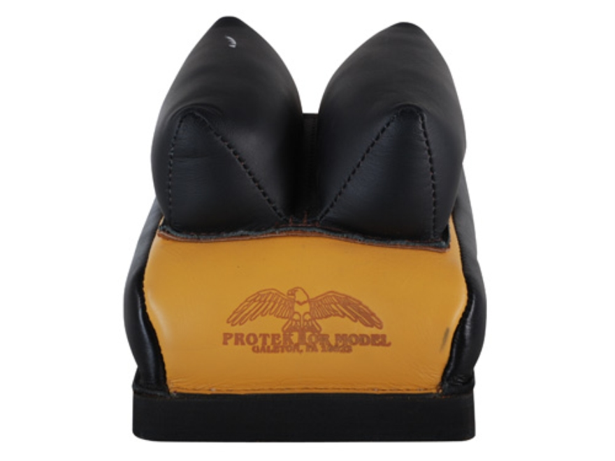 Protektor Custom Bumble Bee Dr Rabbit Ear Rear Shooting Rest Bag Leather Tan Filled