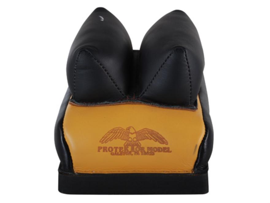 Protektor Custom Bumble Bee Dr Leather Rabbit Ear Rear Shooting Rest Bag Leather Tan Fi...