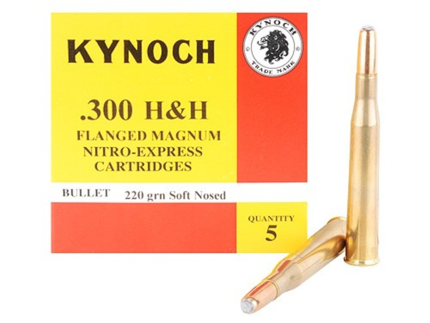Kynoch Ammunition 300 Flanged Magnum 220 Grain Woodleigh Welded Core Soft Point Box of 5