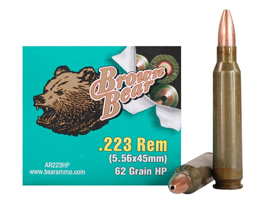Brown Bear Ammunition 223 Remington 62 Grain Hollow Point (Bi-Metal)