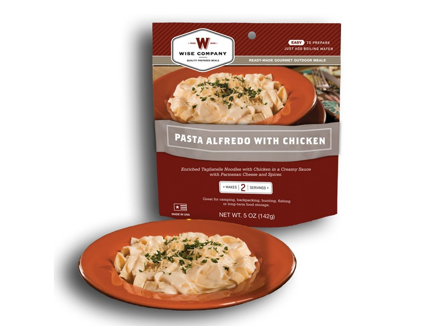 Wise Food Outdoor Pasta Alfredo Freeze Dried Food 5 oz