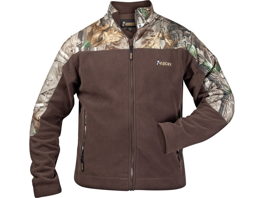 Rocky Men's Fleece Jacket Polyester Realtree AP Camo and Brown 2XL 50-52