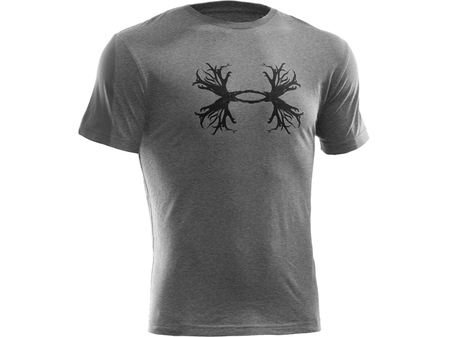 Under armour men 39 s ua antler t shirt short sleeve cotton for Gray under armour shirt