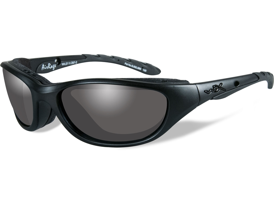 Wiley X Black Ops AirRage Sunglasses Smoke Gray Lens