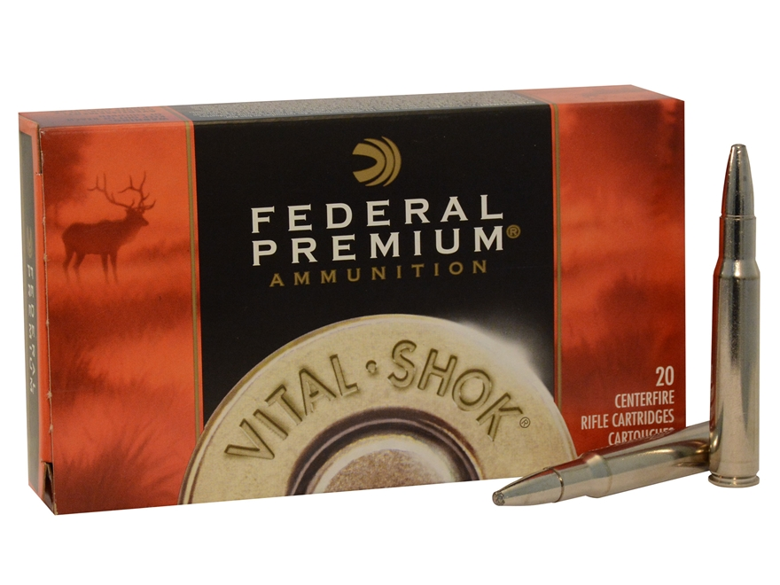 Federal Premium Vital-Shok Ammunition 30-06 Springfield 200 Grain Trophy Bonded Bear Claw Box of 20