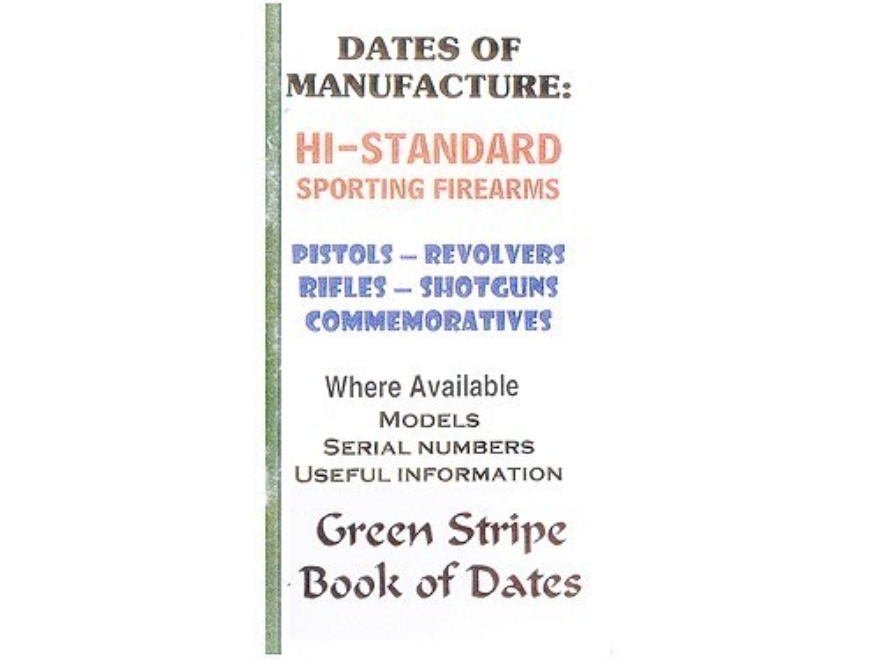"Green Stripe Data Books ""Hi-Standard"" Book by Firing Pin Enterprises"