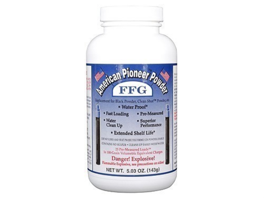 American Pioneer FFg Black Powder Substitute 100 Grain Pre-Measured Tube Package of 25
