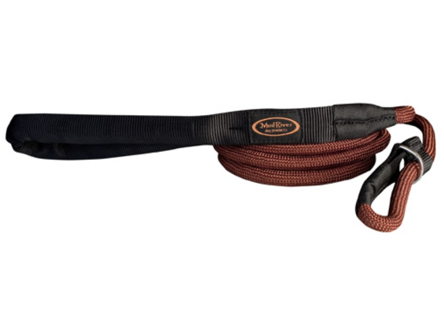 Mud River Hugo Slip Dog Leash Nylon Brown