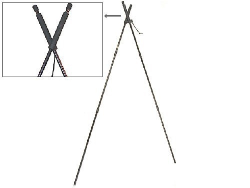 Stoney Point PoleCat Steady Stix 2 Bipod Shooting Sticks Black with Belt Pouch