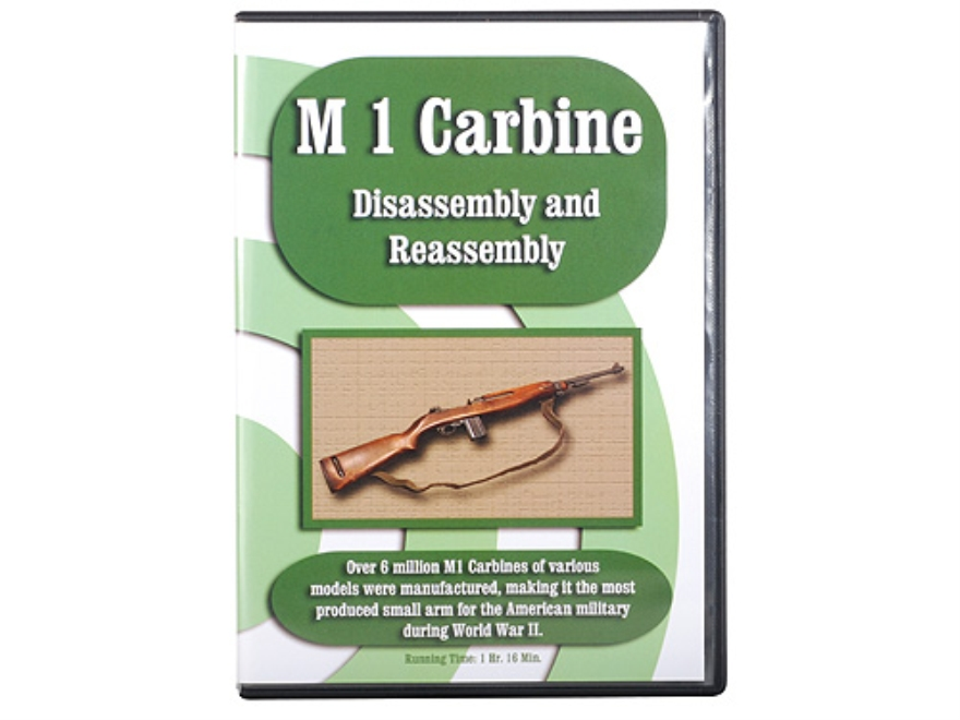 """M1 Carbine Disassembly & Reassembly"" DVD"