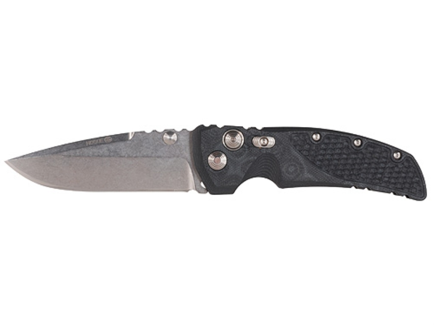 "Hogue EX-01 Extreme Folding Knife 3.5"" 154CM Cryo Stainless Steel Drop Point Blade G-10 Handle Black G-Mascus"