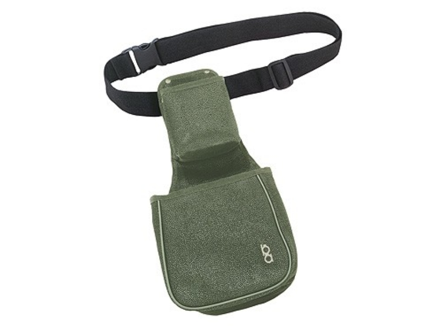 Bob Allen Classic Duplex Shotgun Shell Pouch and Hull Bag with Upper Shell Box Pouch and Belt Synthetic Leather Green