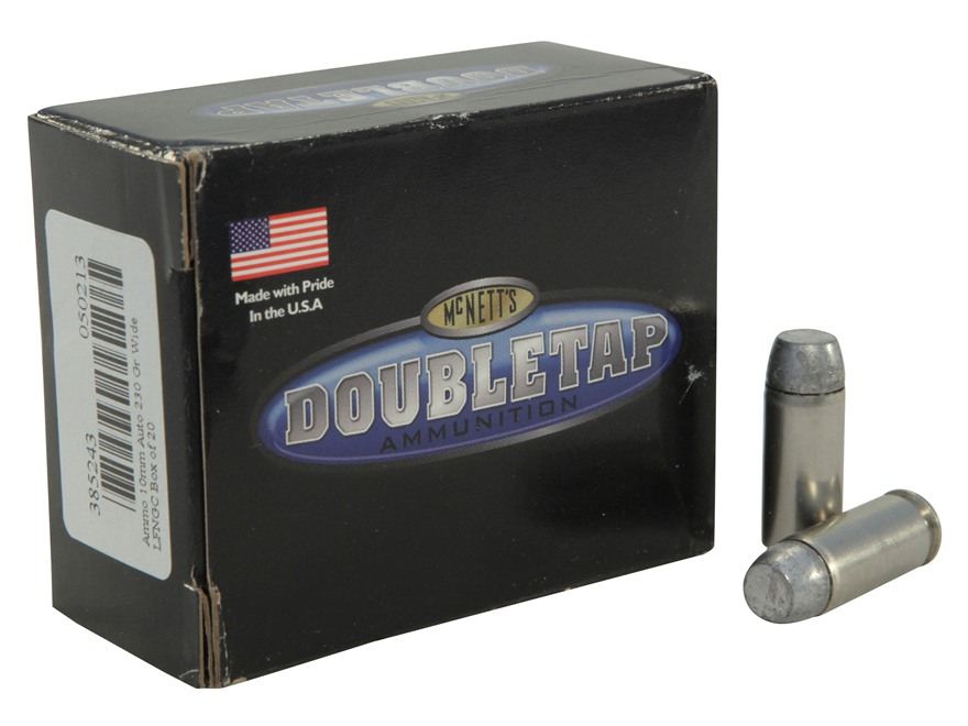 Doubletap Ammunition 10mm Auto 230 Grain Hard Cast Solid Wide Flat Nose Gas Check Box of 20
