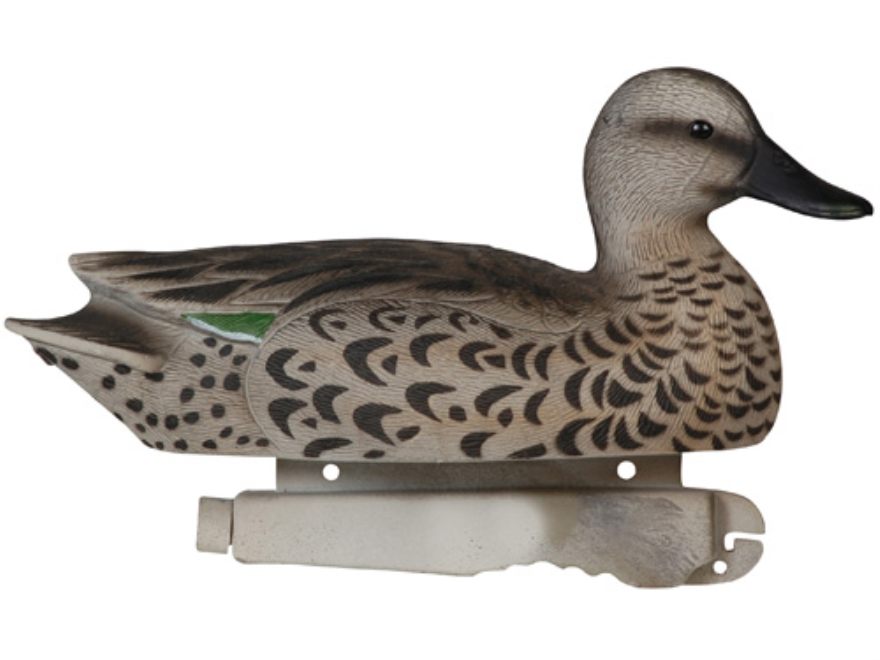 Tanglefree Pro Series Weighted Keel Green Wing Teal Duck Decoys Pack of 6