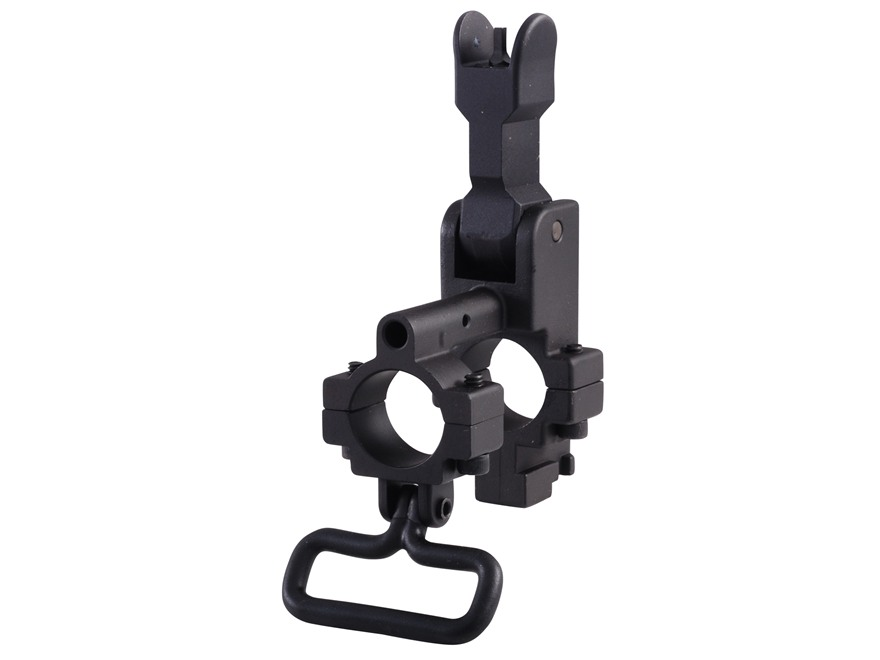"Yankee Hill Machine Gas Block with Flip-Up Front Sight & Bayonet Lug Bolt-On Mount AR-15, LR-308 Standard Barrel .750"" Inside Diameter Steel Matte"