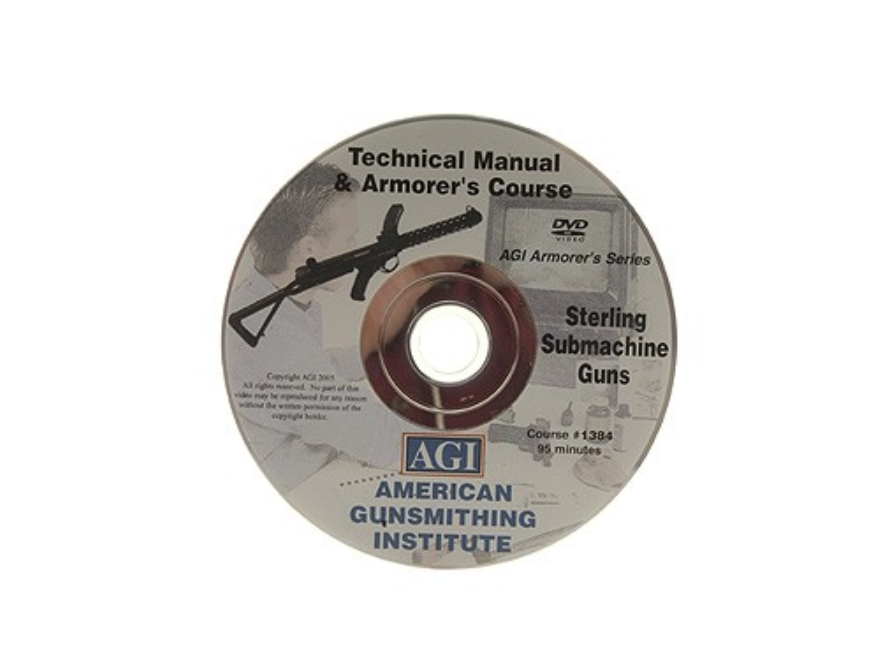 "American Gunsmithing Institute (AGI) Technical Manual & Armorer's Course Video ""Sterling SMG (Submachine Gun)"" DVD"