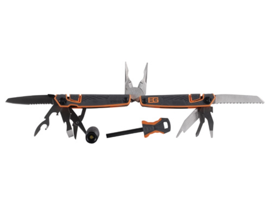 Gerber Bear Grylls Survival Tool Pack Multi-Tool 12 Function Plus LED Light and Fire St...
