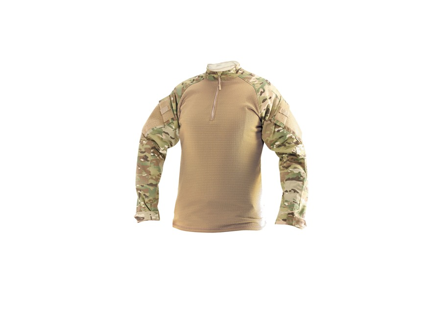 Tru-Spec 1/4 Zip Winter Combat Shirt Long Sleeve Polyester and Spandex