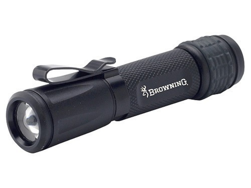 Browning Tactical Hunter Alpha Flashlight LED with 1 AA Battery Aluminum Black