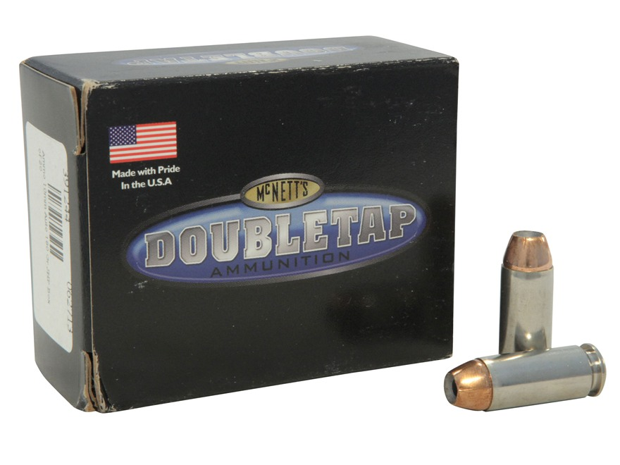 Doubletap Ammunition 10mm Auto 180 Grain Nosler Jacketed Hollow Point Box of 20