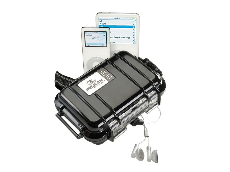 Pelican i1010 Micro iPod Case Polymer with Headphone Jack and Reflective Strap