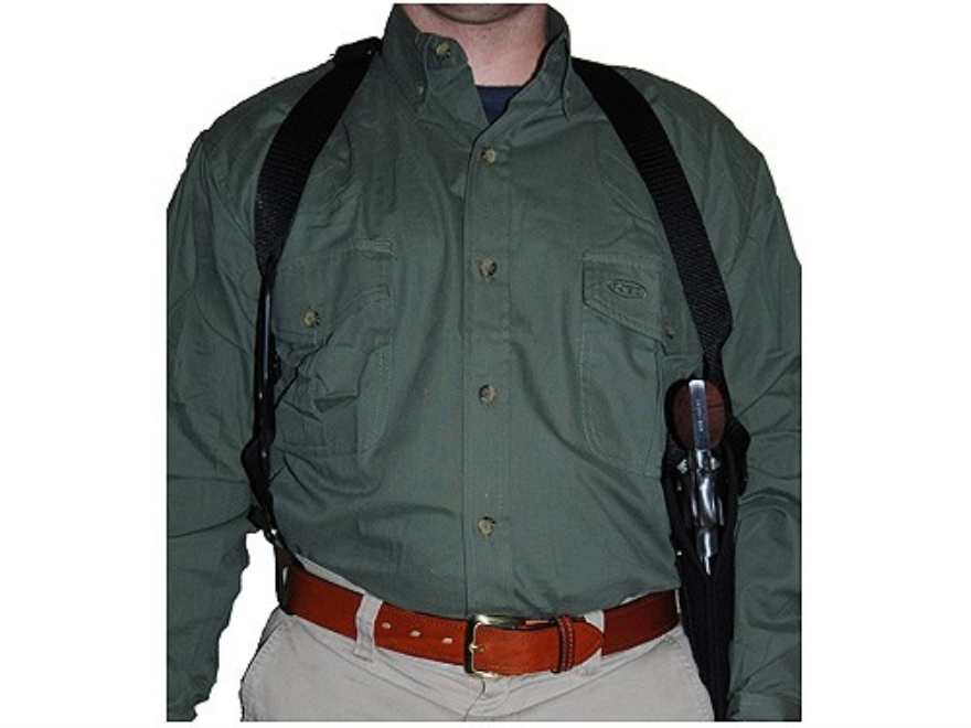 "Uncle Mike's Sidekick Vertical Shoulder Holster Medium Double-Action Revolver 6"" Barrel Nylon Black"