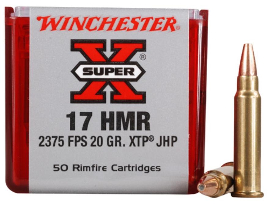 Winchester Super-X Ammunition 17 Hornady Magnum Rimfire (HMR) 20 Grain XTP Jacketed Hollow Point