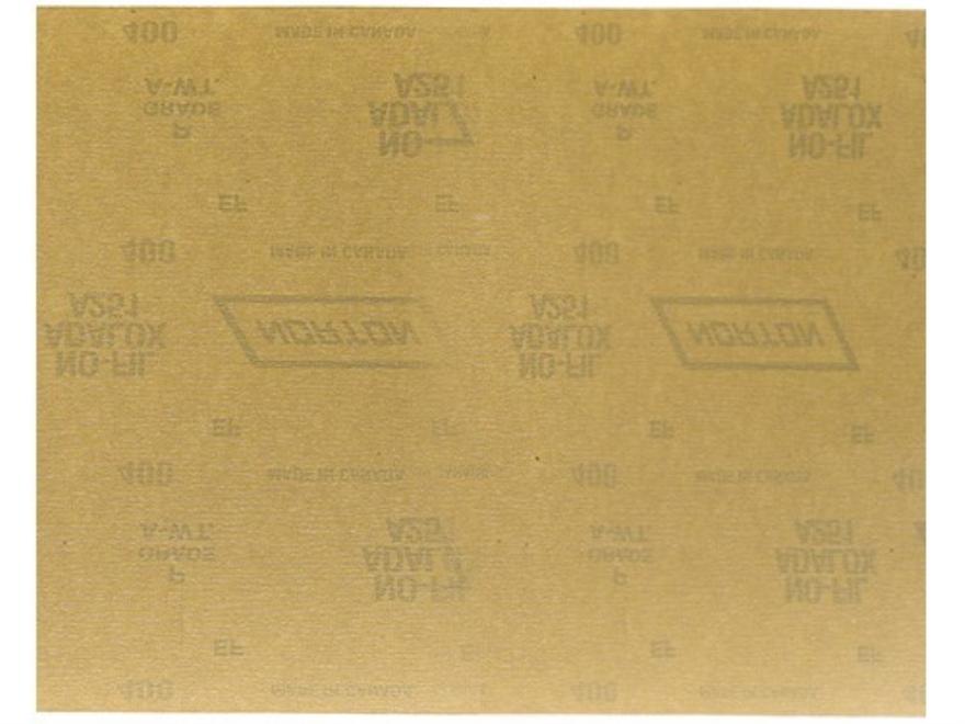 "Norton Adalox No-Fil Sandpaper 400 Grit 9"" x 11"" Package of 25"