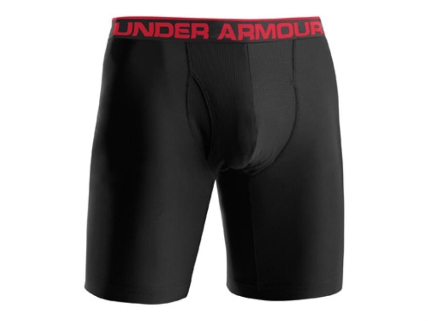 "Under Armour Men's 9"" Original Boxerjock Underwear Synthetic Blend Black XL 38-40"